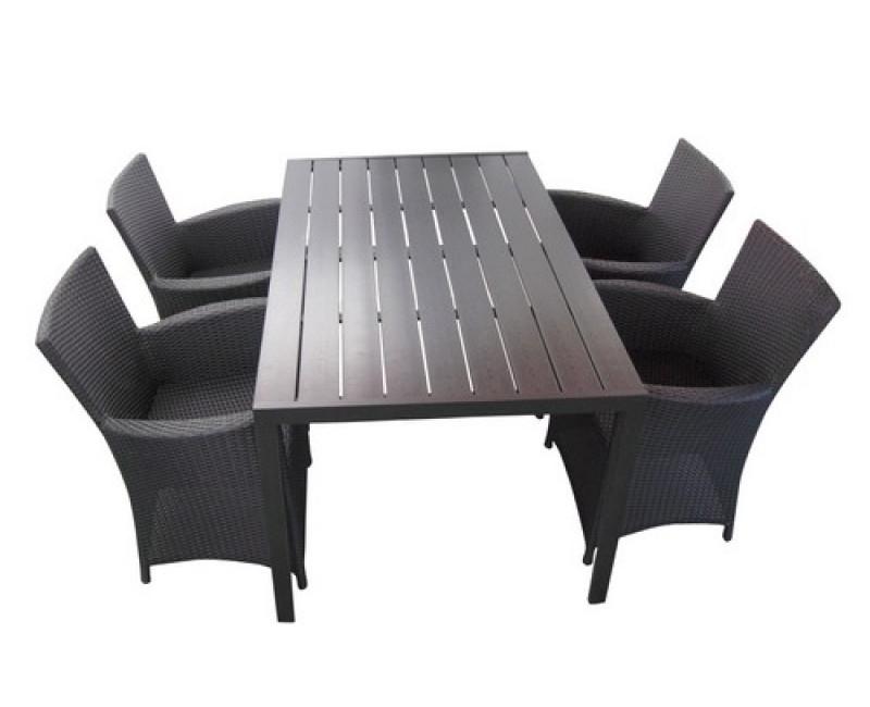 havemøbelsæt i polyrattan til 4 personer