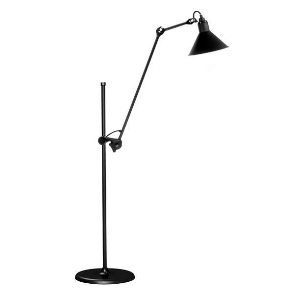lampe gras n215 gulvlampe i mat sort